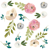 August Floral in White