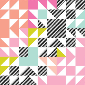 puzzle wholecloth // neon brights