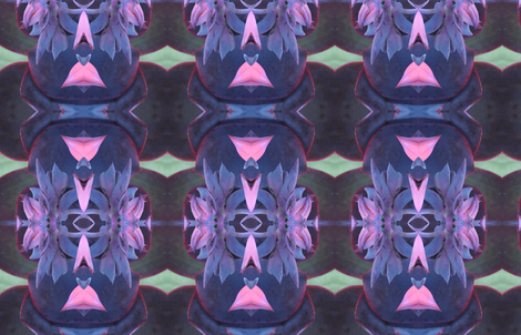 purple succulent dancer fabric by scrumblygirl on Spoonflower - custom fabric