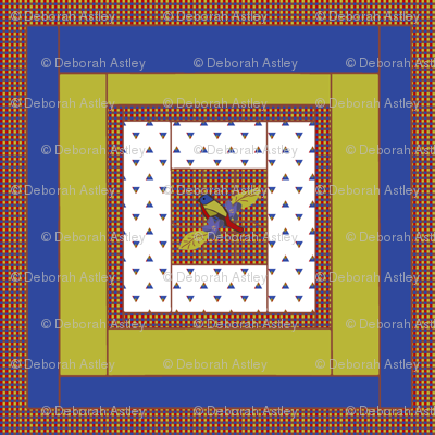 Painted Bunting Quilt Block 2