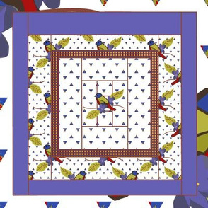 Painted Bunting Quilt Block 3