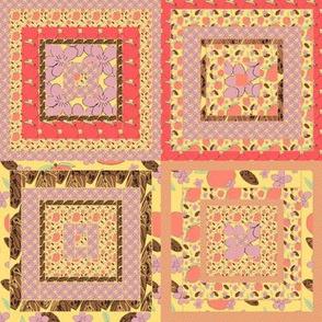 Peach Quilt Block 6