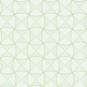 Green waves, ovals, and squares