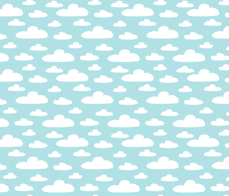 Clouds_blue fabric by daslottchen on Spoonflower - custom fabric