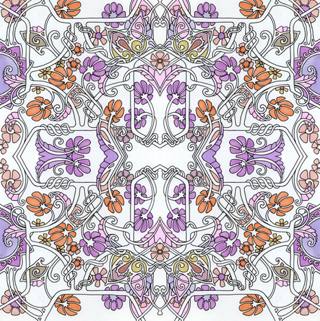 Meandering Posy Twist fabric by edsel2084 on Spoonflower - custom fabric