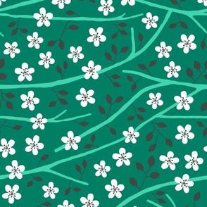 Tree blossom green