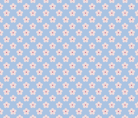 Plum Blossoms fabric by anniecdesigns on Spoonflower - custom fabric
