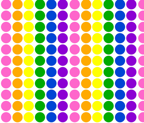 Pink Rainbow Dots fabric by sunshineandspoons on Spoonflower - custom fabric