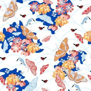 butterfly garden blue