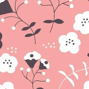 Hot summer flowers sweet pink white blossom for girls
