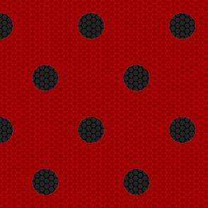 "Ladybug Fabric 1"" Spots"