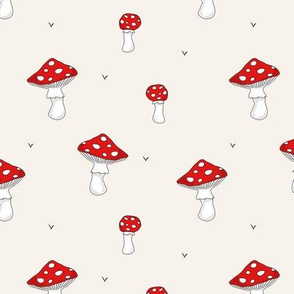 Mushrooms // red beige scandinavian forrest swedish fungi