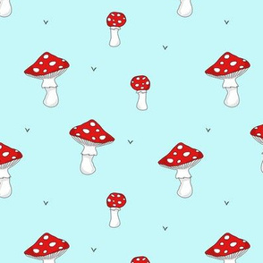 Mushrooms // red turquoise swedish forrest scandinavian food