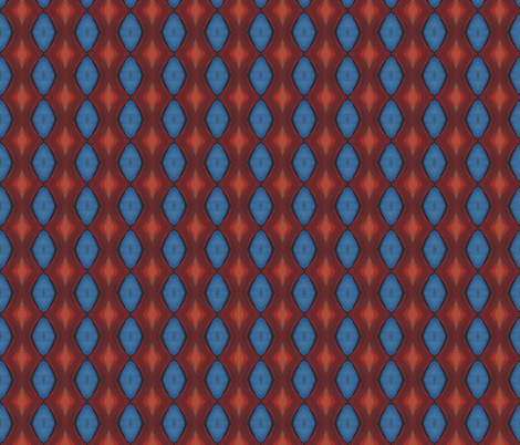 Firebird Red and Blue Diamond Fabric Design fabric by spatialh on Spoonflower - custom fabric