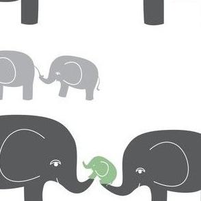 Elephants (in gray/sage)