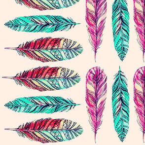 Rustic Tribal Feather Pattern