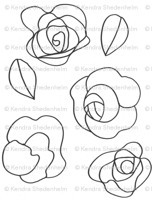 Flower drawing (black on white)