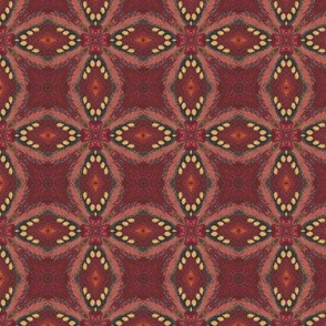Firebird Red Diamond Custom Fabric