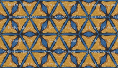 Firebird Blue and Gold Triangles