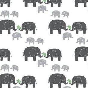 Elephants (in gray/blue)