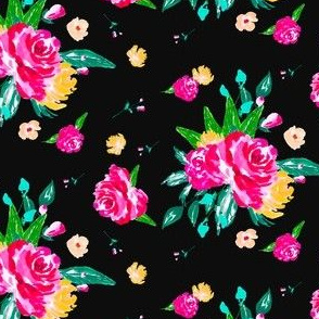 Vintage Rose Garden - Black