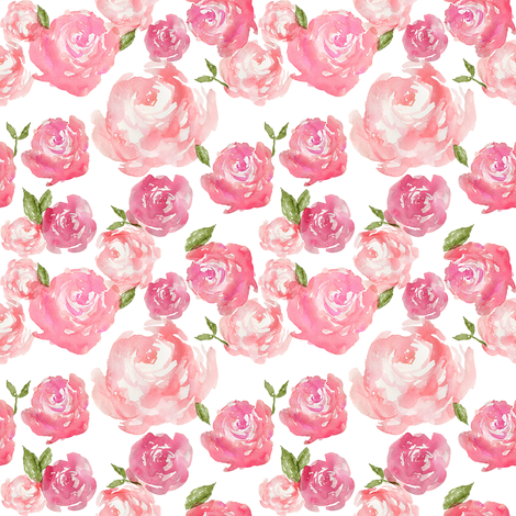 Watercolor Floral Small fabric by laurapol on Spoonflower - custom fabric