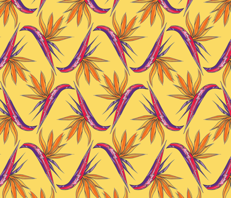 Birds of Paradise fabric by paper_and_frill on Spoonflower - custom fabric
