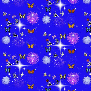 insects, stars and fireworks
