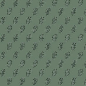 Diagonal Charcoal Hop Stripes on Dark Green