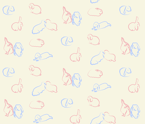 randomrabbitscolour fabric by snap-dragon on Spoonflower - custom fabric