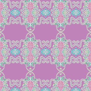 Pineapples and Pearls Lilac