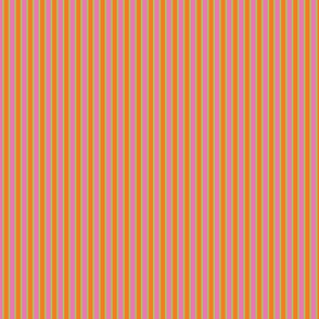 Serendipity Stripes # 2 Orange/Pink/Green
