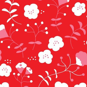 Hot red summer flowers sweet pink white blossom for girls