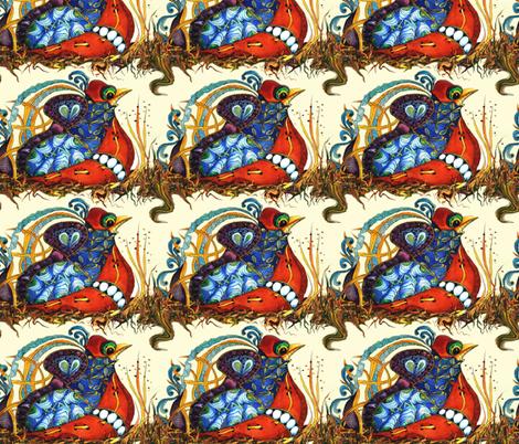Abstract Quail - crosswise stripe lg fabric by maryyx on Spoonflower - custom fabric