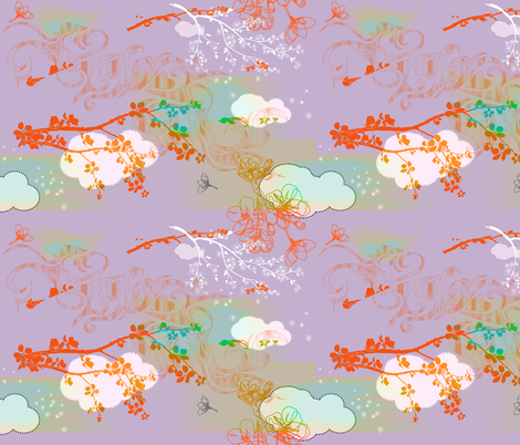 wind_and_sakura_2 fabric by isabella_asratyan on Spoonflower - custom fabric
