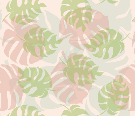 Soft Philodendrons fabric by gargoylesentry on Spoonflower - custom fabric
