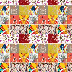 Junkanoo collage quilt