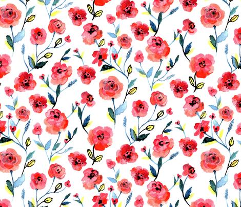 poppy fabric by laragurney on Spoonflower - custom fabric