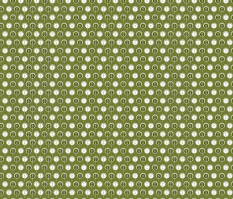Trees in Olive fabric by cindylindgren on Spoonflower - custom fabric