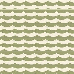 Waves in Olive and Khaki