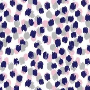 Navy Blue Pink Dalmation Spots
