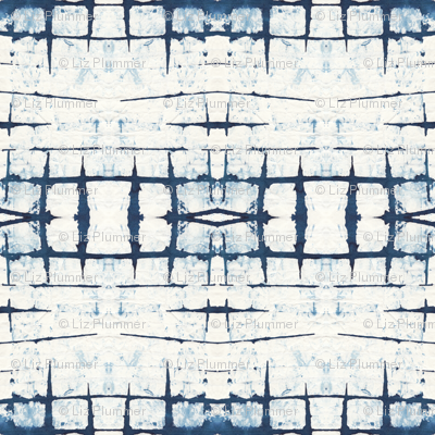 Faded Indigo Shibori
