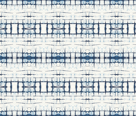 Faded Indigo Shibori fabric by lizplummer on Spoonflower - custom fabric