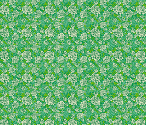 Rose Remix - leafy fabric by cinneworthington on Spoonflower - custom fabric