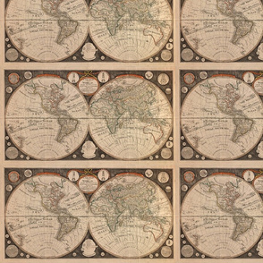 1799 World Map by Kitchen - Small