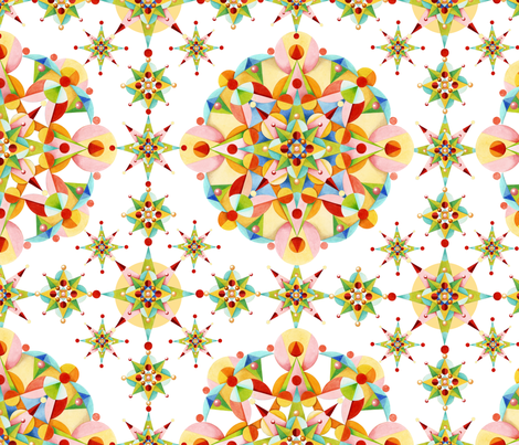 Carousel Confetti Starburst fabric by patriciasheadesigns on Spoonflower - custom fabric