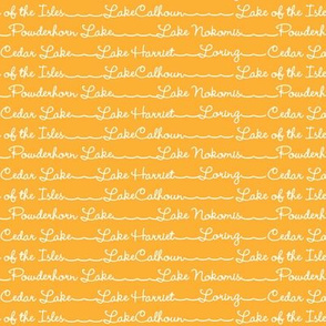 Lake Names in Tangerine