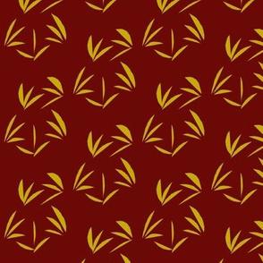 Golden Oriental Tussocks on Russet