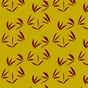 Russet Oriental Tussocks on Antique Gold