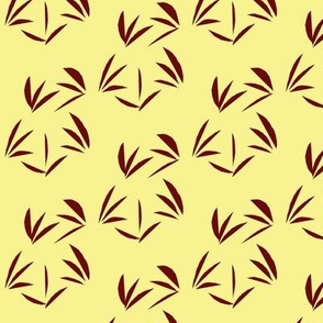 Russet Oriental Tussocks on Buttery Yellow
